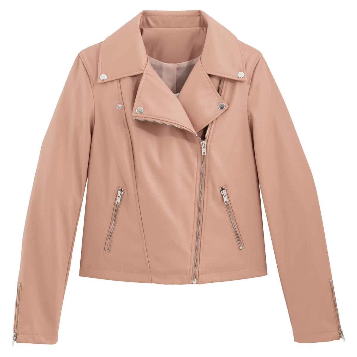 Блузон La Redoute Короткий в байкерском стиле 42 (FR) - 48 (RUS) розовый блузон