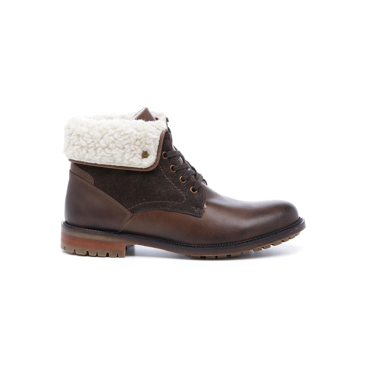 Ботильоны кожаные на шнуровке Draky