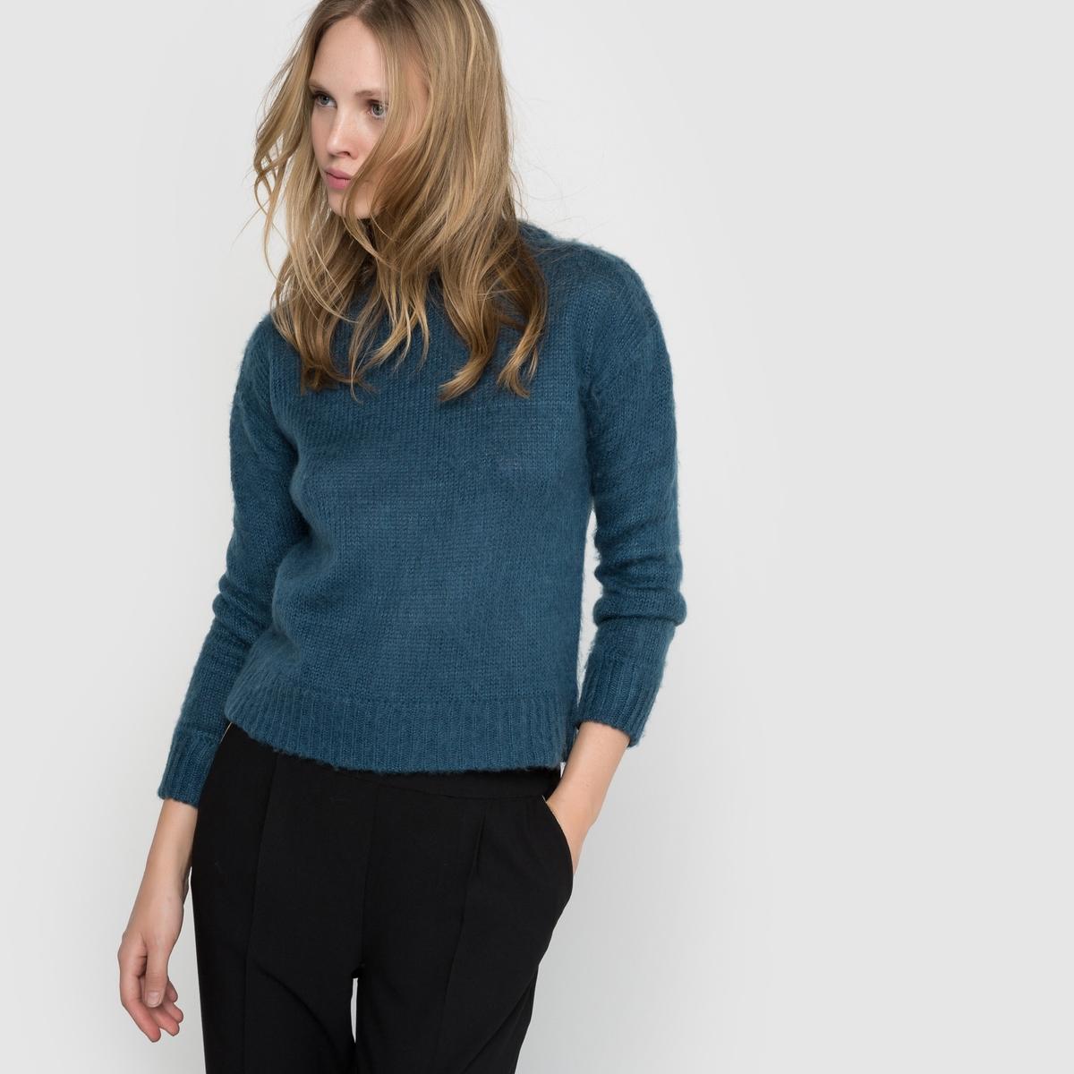 Пуловер с круглым воротником