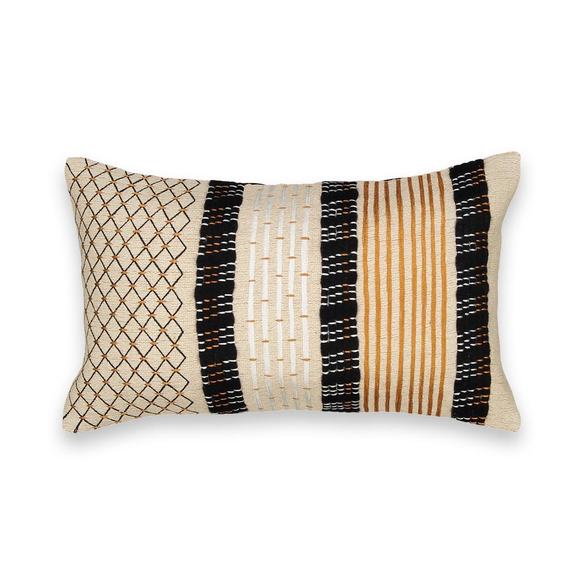 Чехол на подушку-валик с вышивкой, Luzubal цена