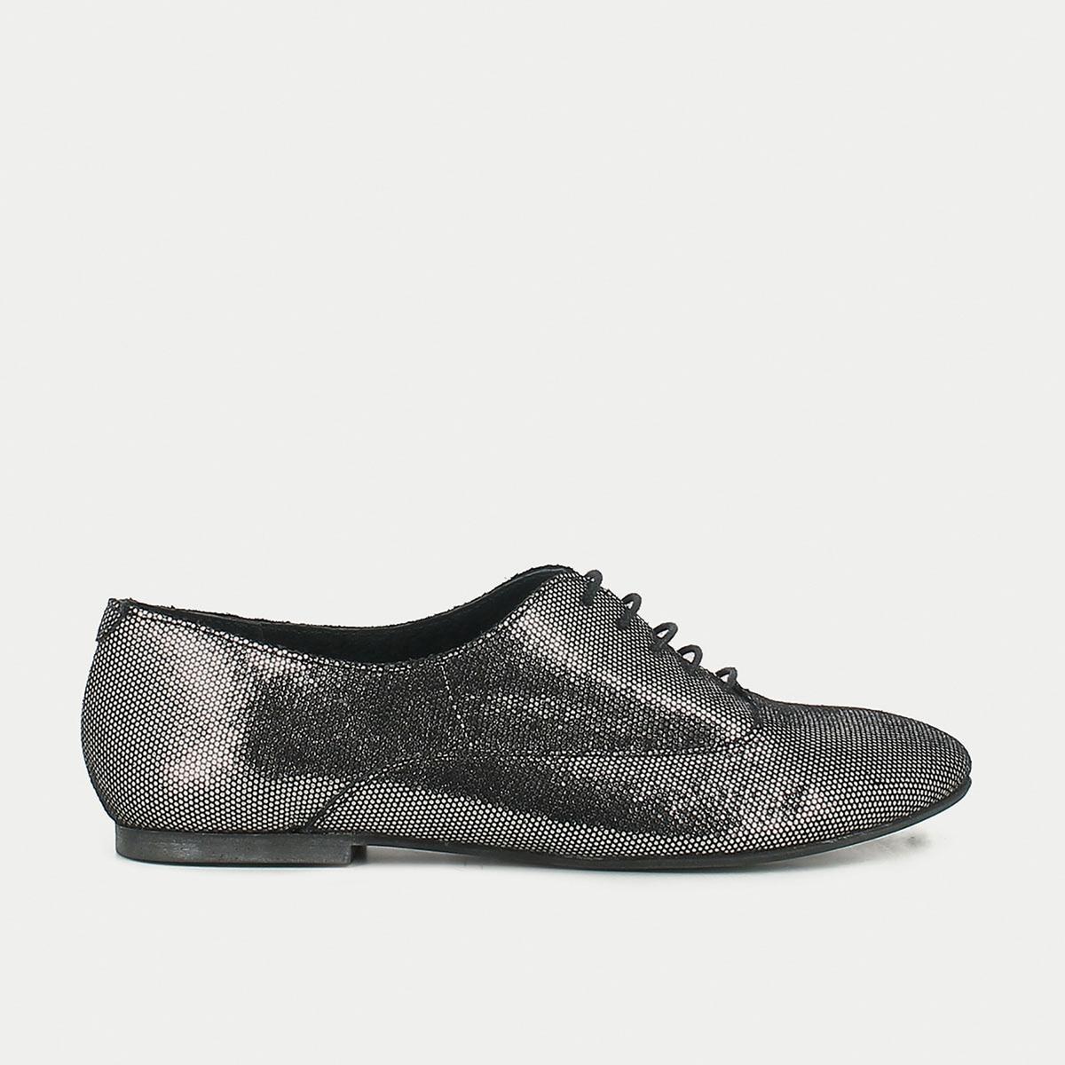 Ботинки-дерби из металлизированной кожи