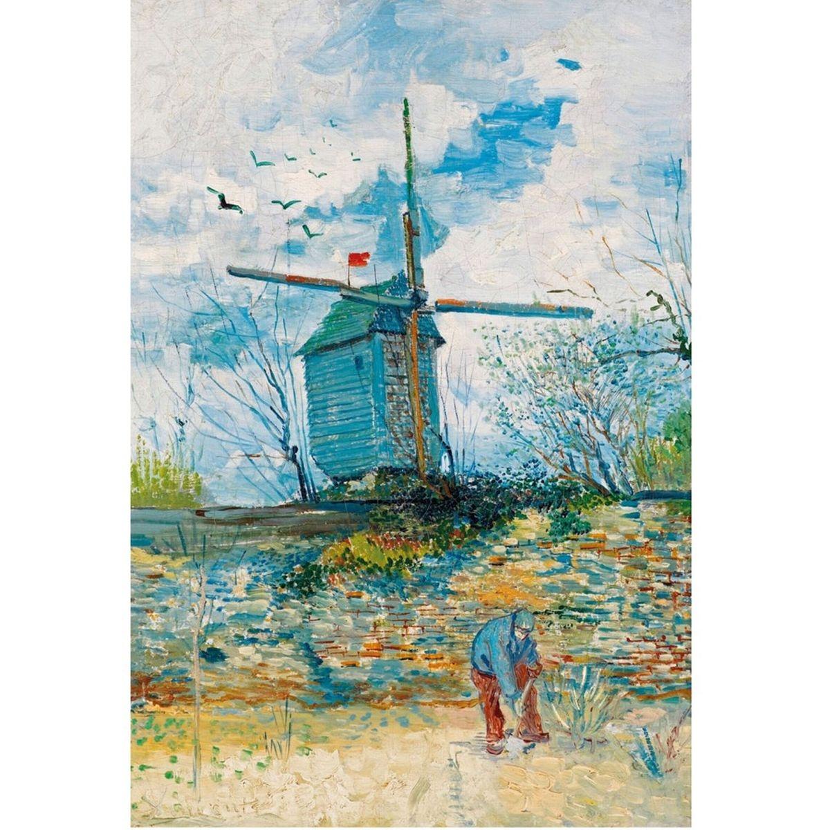 Puzzle d'art en bois 750 pièces Michèle Wilson : Le Moulin de la Galette - Van Gogh