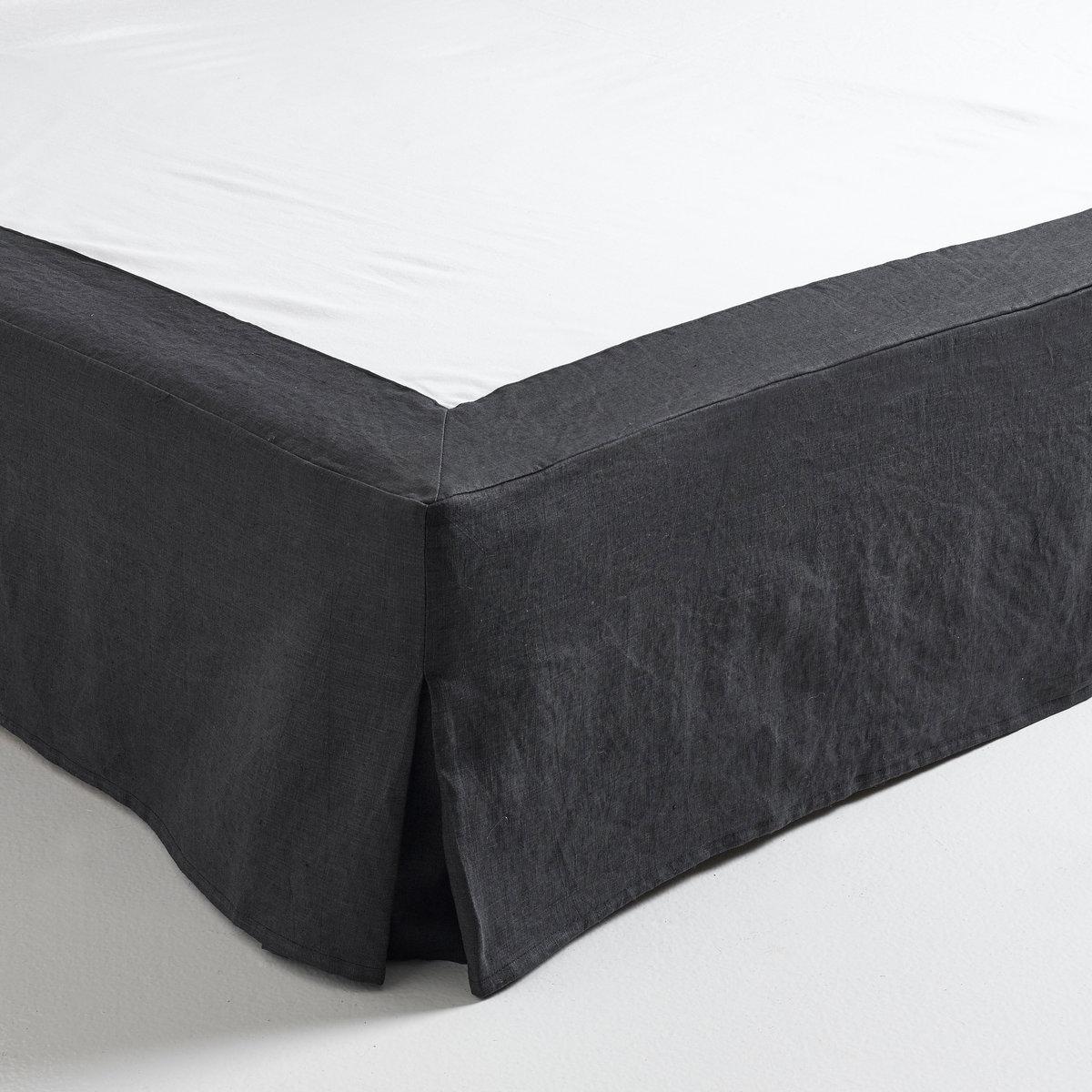 Чехол LaRedoute Для кровати из пенькихлопка Lino 90 x 190 см серый кровати 160 см