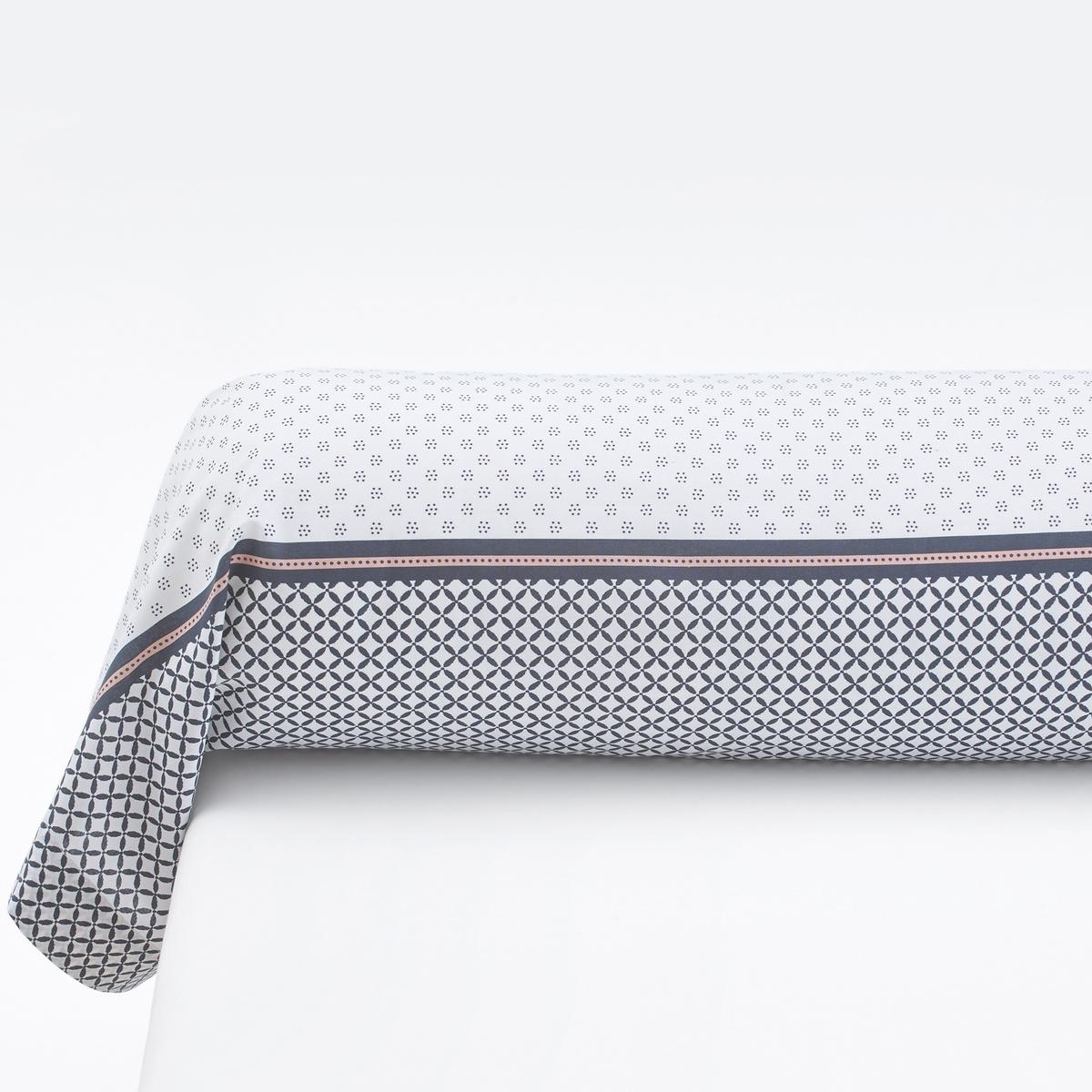 Наволочка на подушку-валик с рисунком из 100% хлопка, NAYMA