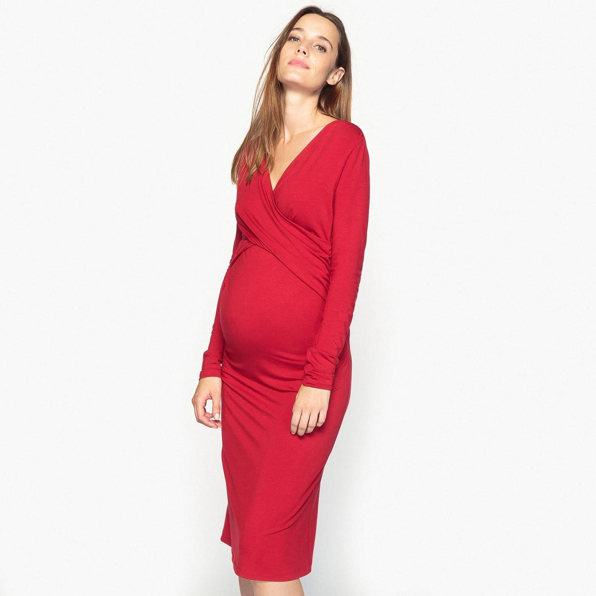 Платье трикотажное для периода беременности
