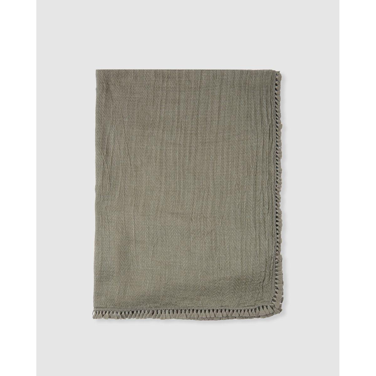 Foulard  tissu effet froissé uni