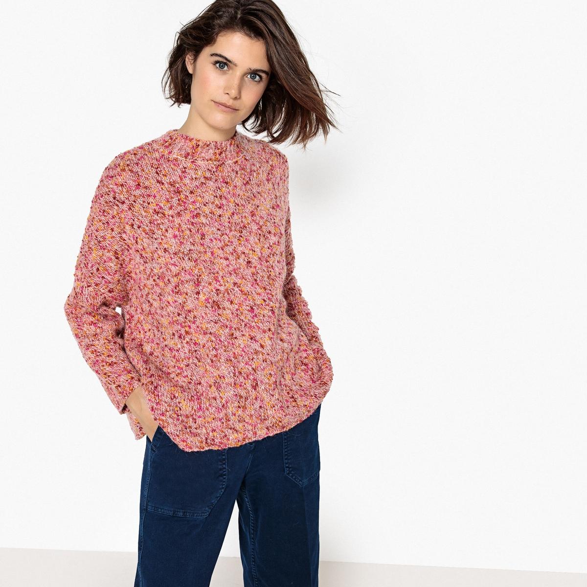 Пуловер La Redoute Из трикотажа мулине S розовый кардиган la redoute из трикотажа мулине s розовый