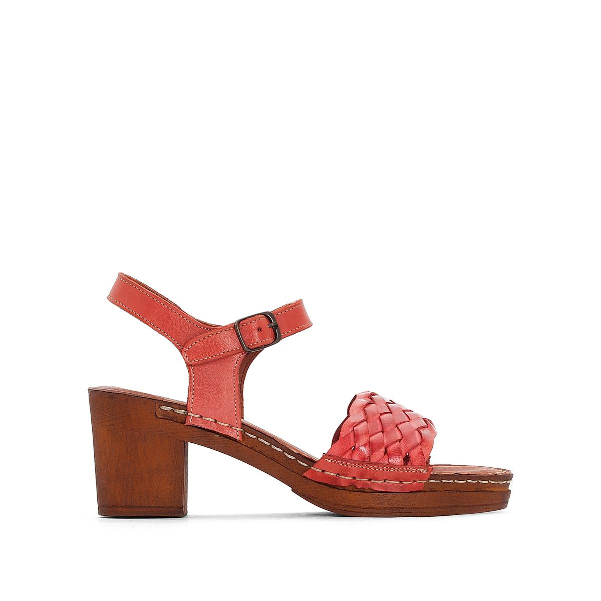 Босоножки кожаные на каблуке TRESSIE