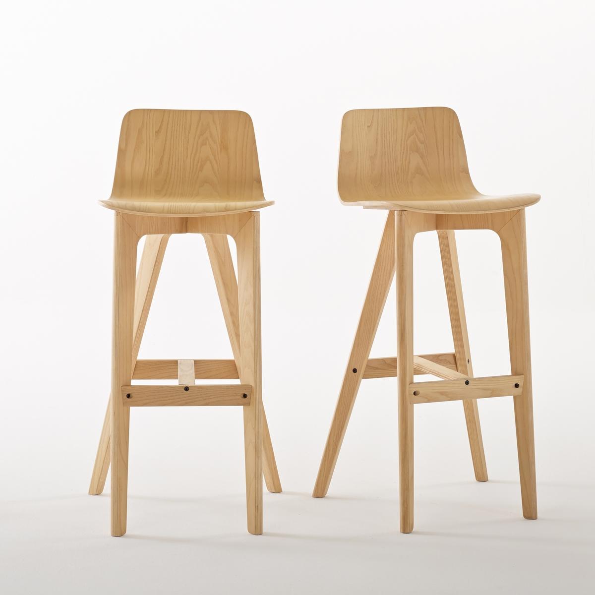 Комплект из 2 высоких дизайнерских стульев, Biface от La Redoute