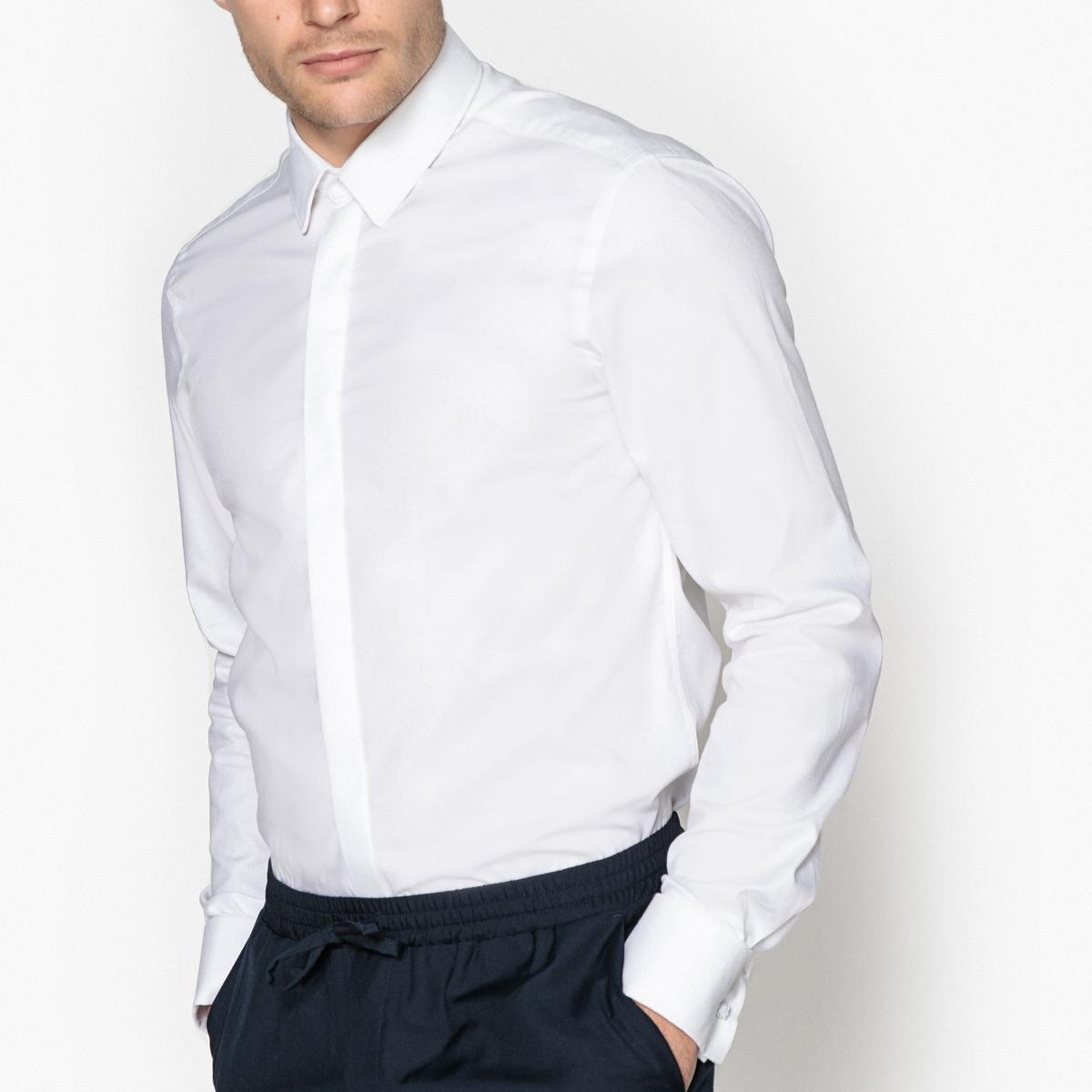 Рубашка-слим, 100% хлопок