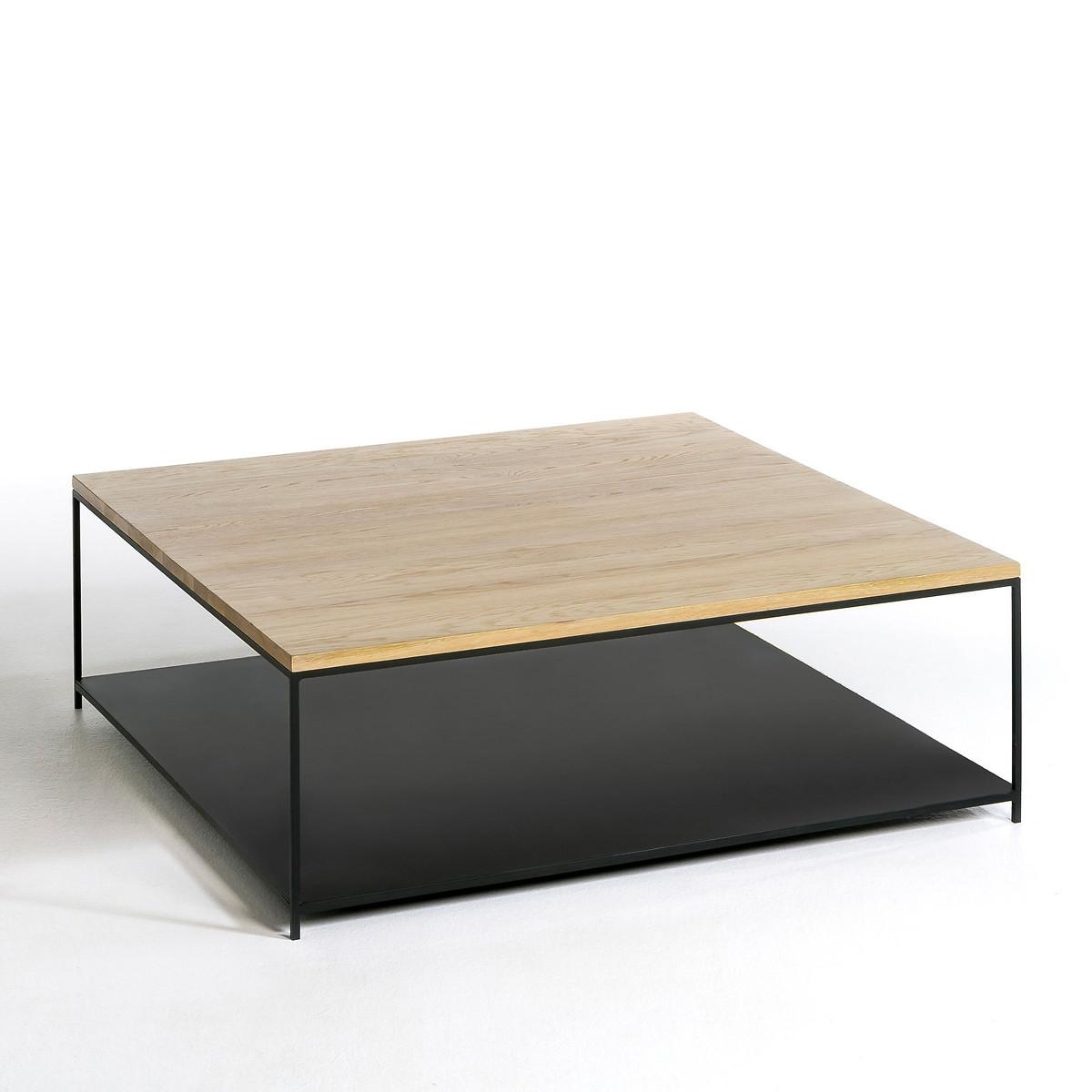 Квадратный LaRedoute Журнальный столик Aranza единый размер каштановый