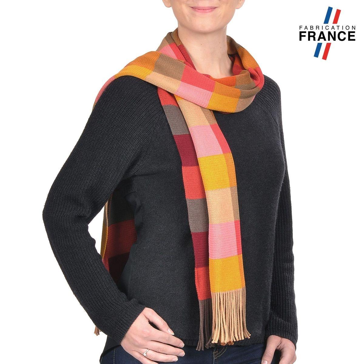 QUALICOQ Echarpe KAROLE Multicolore - Fabriqué en France 974ce41ad15