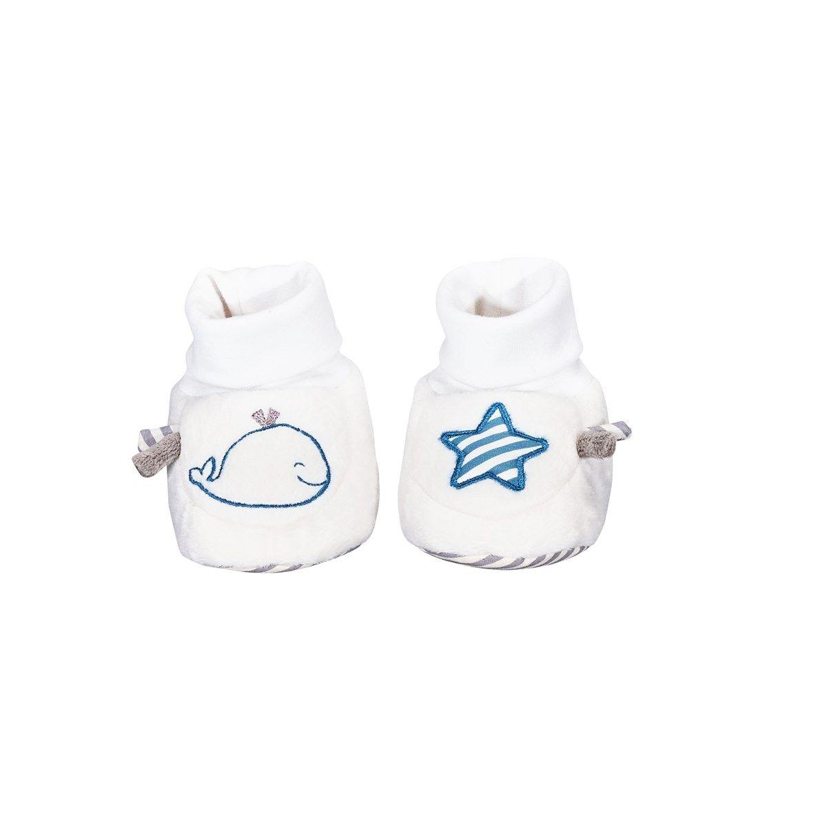 Chaussons bébé 0-6 mois Baleine