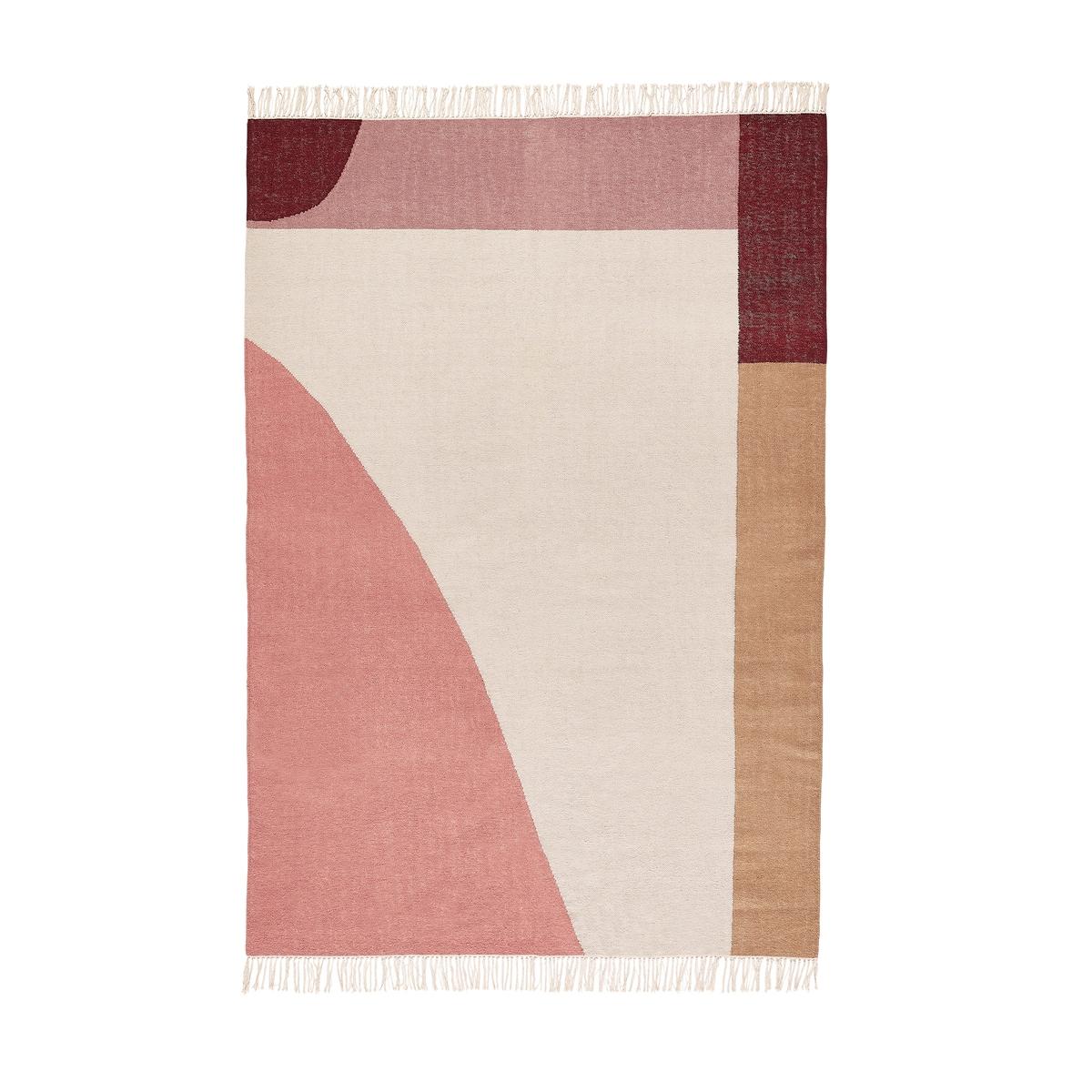 Ковер La Redoute Килим горизонтального плетения из шерсти Ankara 120 x 170 см разноцветный ковер la redoute с ворсом из шерсти и вискозы alandra 120 x 170 см каштановый