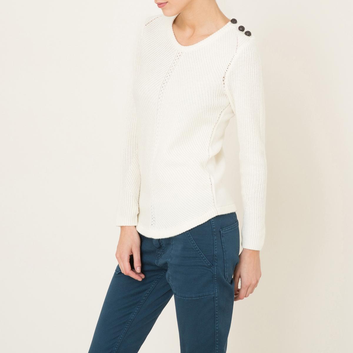 Пуловер ULYSSEСостав и описание    Материал : 90% шерсти, 10% кашемира   Марка : BA&amp;SH<br><br>Цвет: экрю
