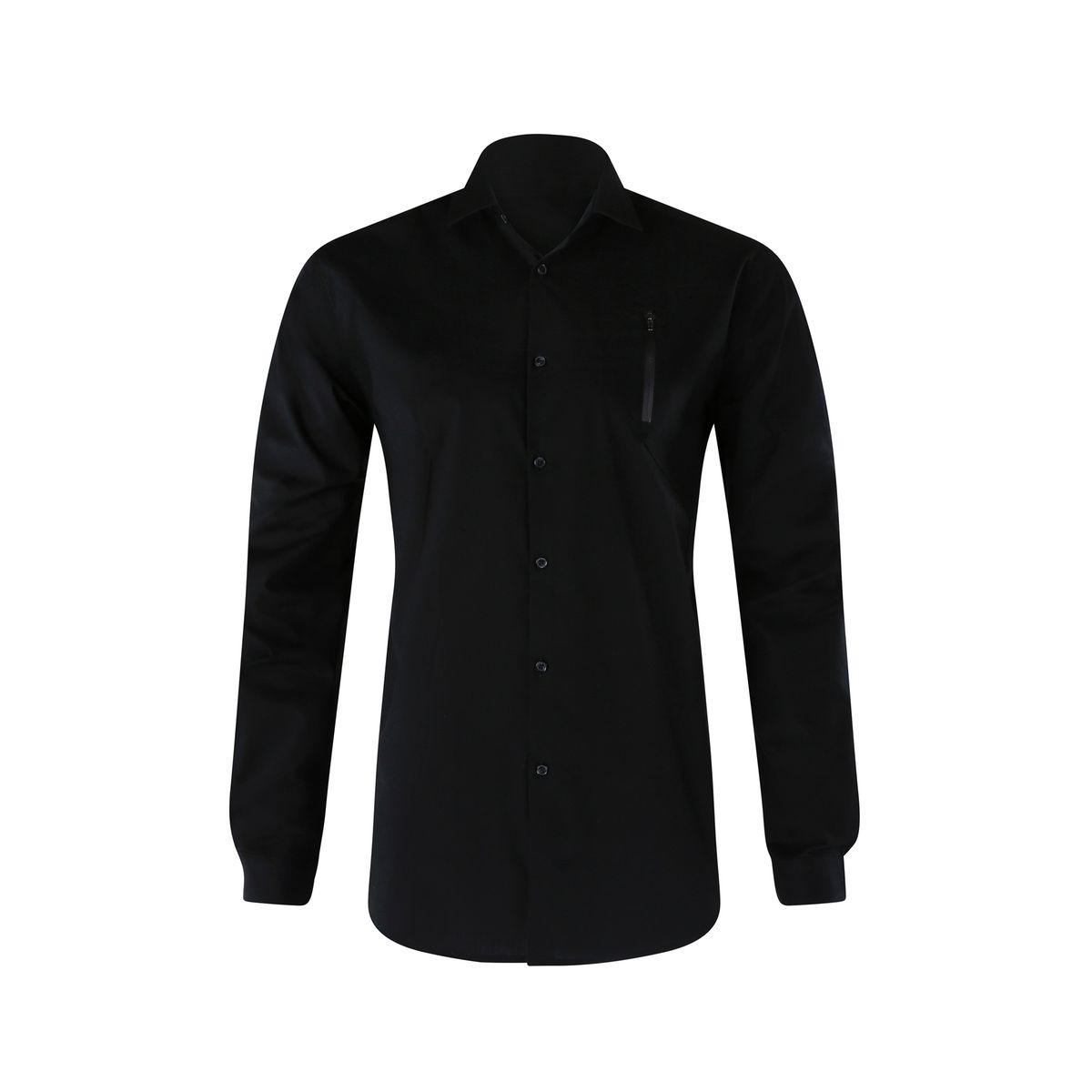 Chemise noire decoupe et zip