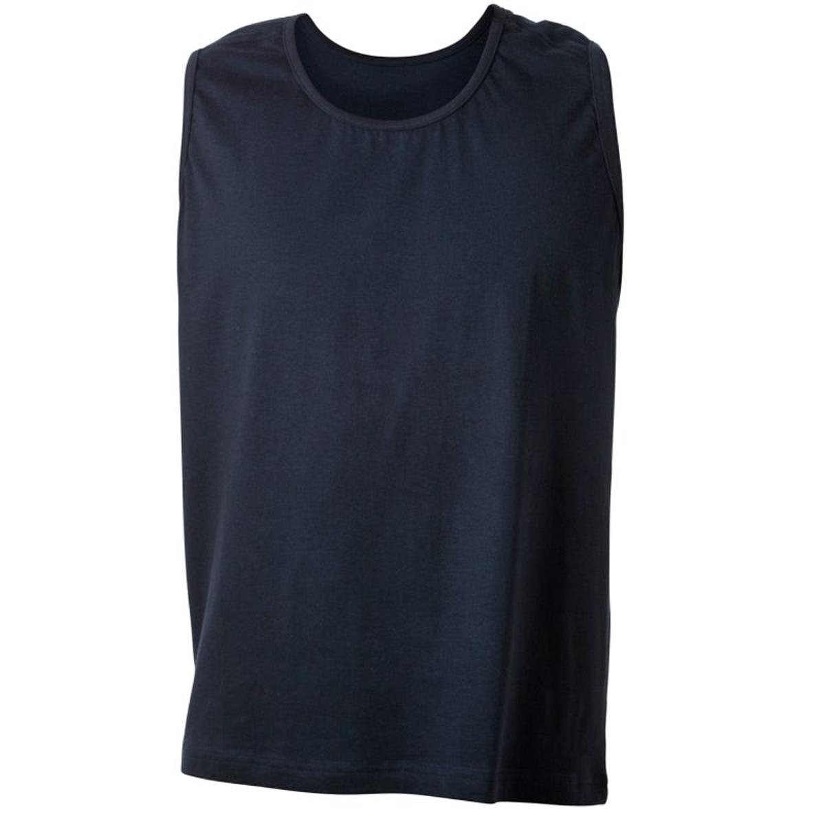 Tee-shirt sans manche bleu marine