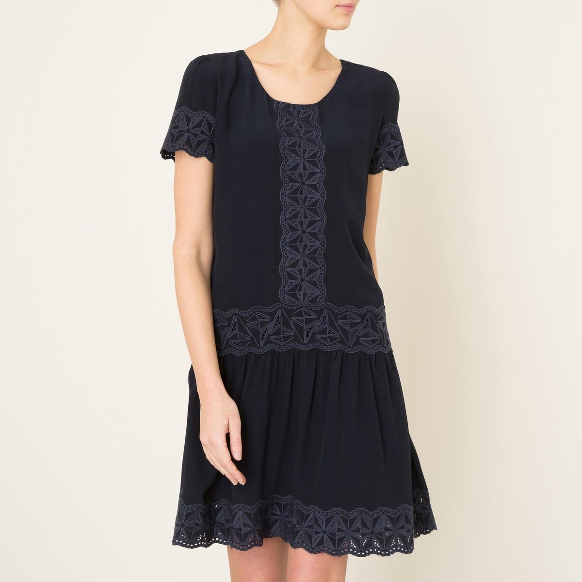 Платье MANONСостав и описание    Материал : 100% струящаяся вискоза   Марка : BERENICE<br><br>Цвет: темно-синий