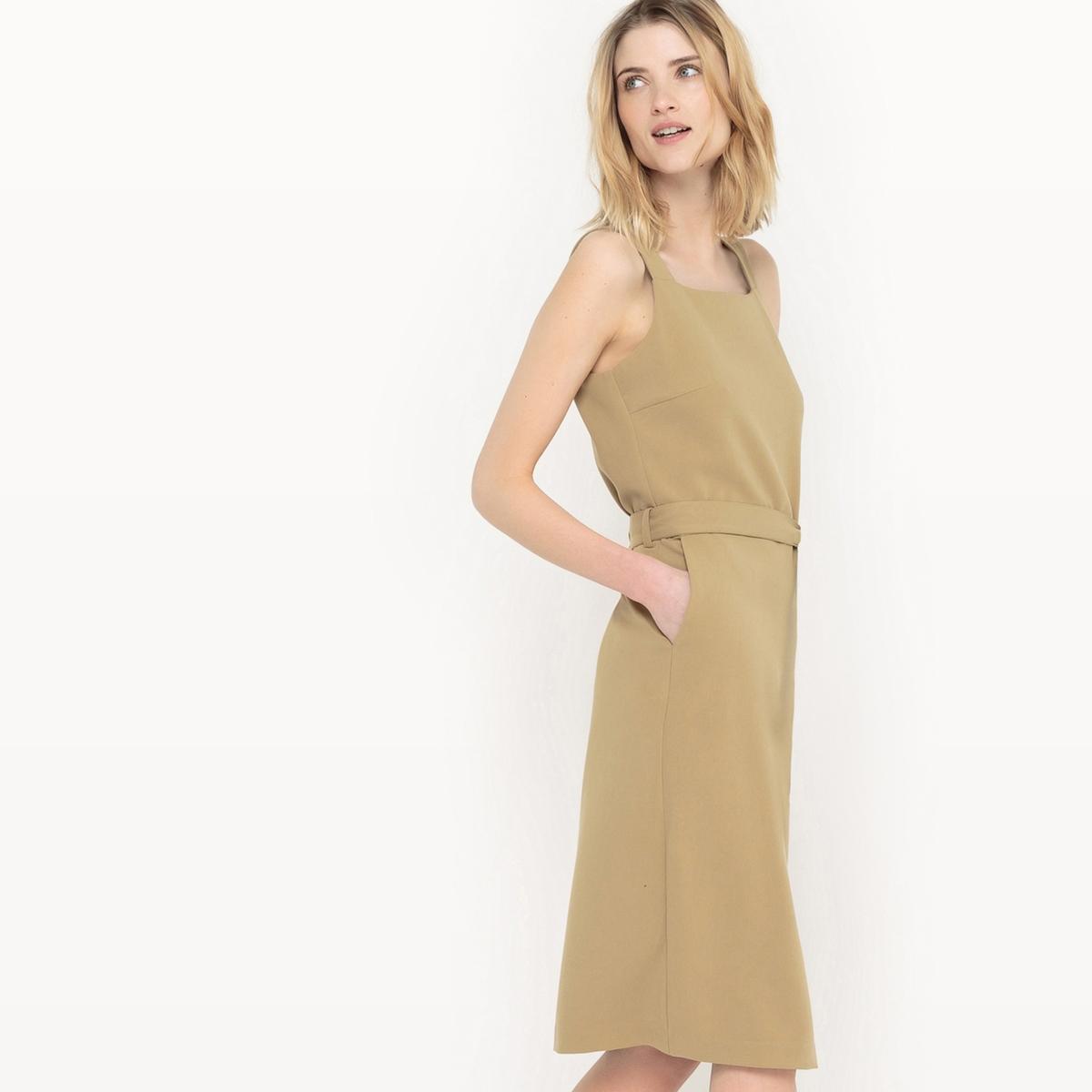 Платье-сарафан однотонное
