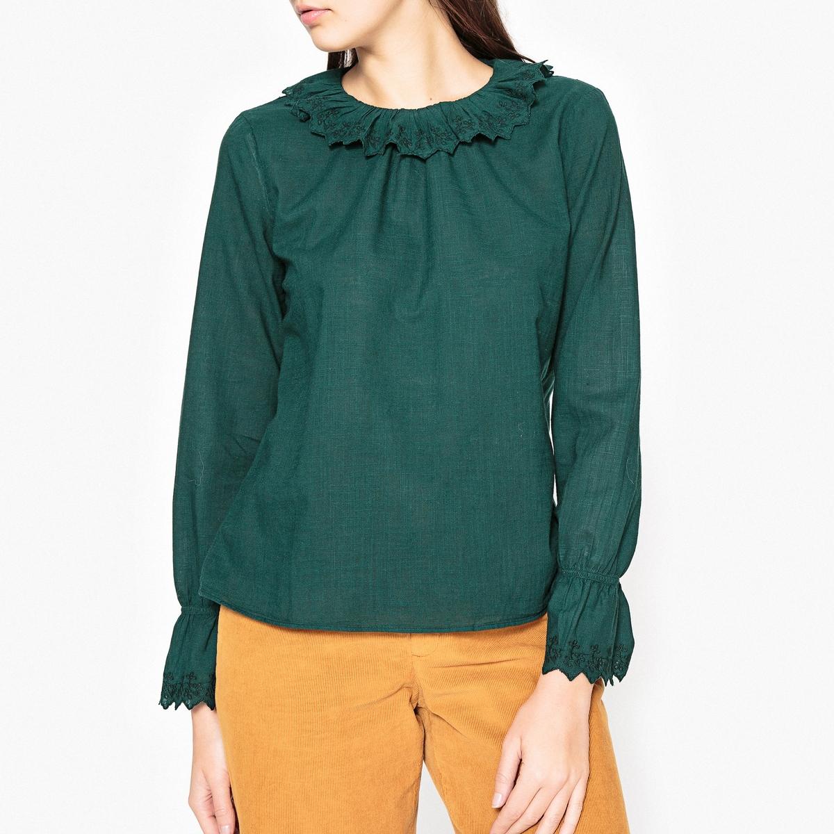 Блузка с воланами CASSIEN блузка асимметричная с воланами на рукаве