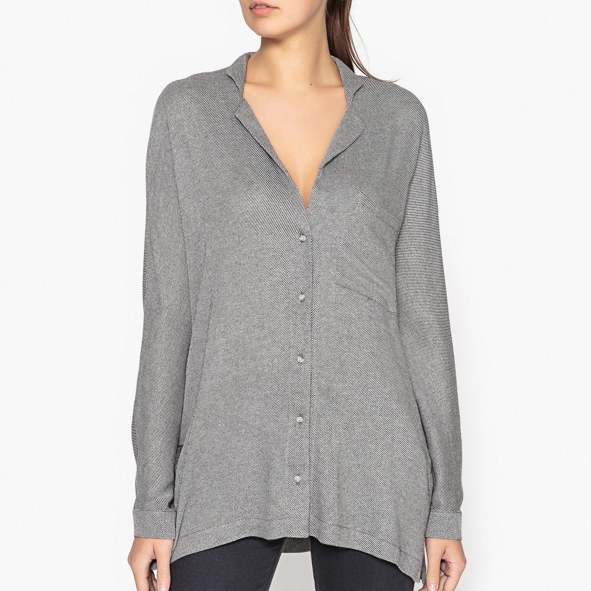 Рубашка с V-образным вырезом NEILОписание:Рубашка с длинными рукавами MARGAUX LONNBERG - модель NEIL с V-образным вырезом и нагрудным карманом.Детали •  Длинные рукава •  Прямой покрой  •   V-образный вырезСостав и уход •  80% вискозы, 20% шерсти •  Следуйте советам по уходу, указанным на этикетке<br><br>Цвет: антрацит<br>Размер: 38 (FR) - 44 (RUS).36 (FR) - 42 (RUS)