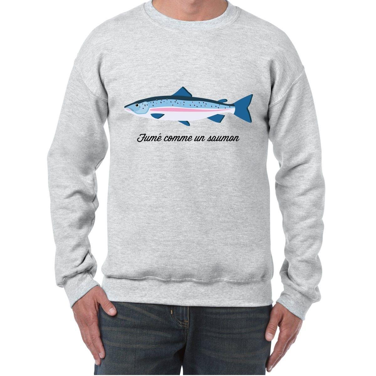 Sweat Col Rond Imprime saumon
