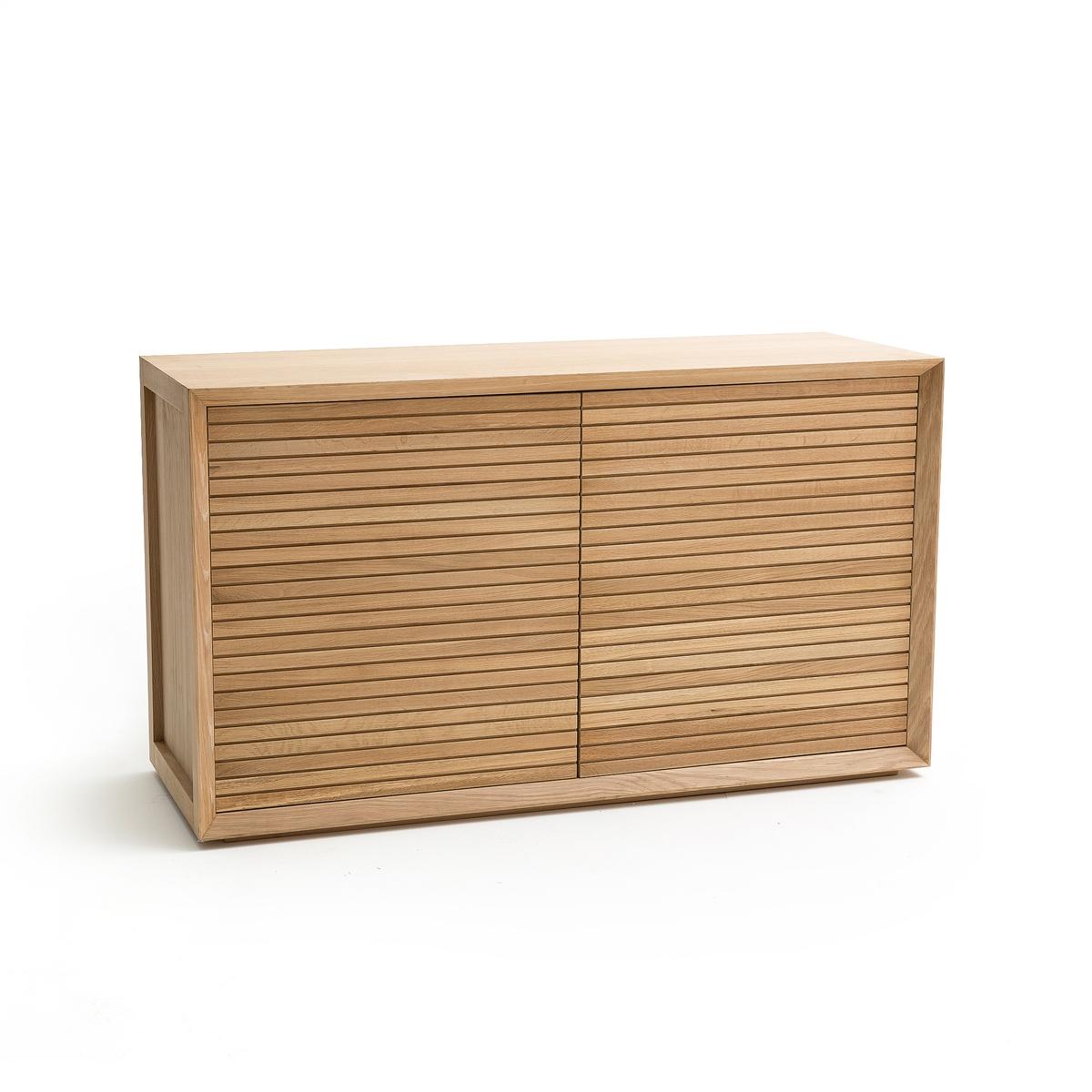 Шкаф-буфет LaRedoute С покрытием дубом Joaquin единый размер каштановый