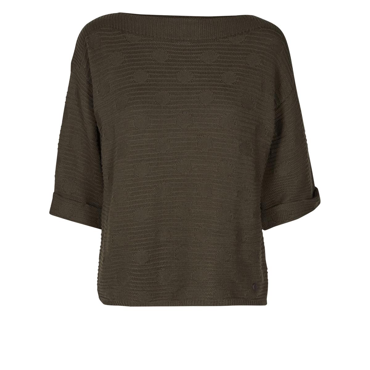 Пуловер стандартного покрояОписание •  Рукава 3/4 •  Круглый вырез •  Тонкий трикотаж  •  Рисунок в полоску Состав и уход • 40% акрила, 60% хлопка   •  Следуйте рекомендациям по уходу, указанным на этикетке изделия<br><br>Цвет: хаки