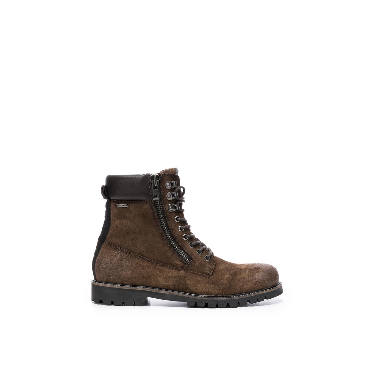цена Ботильоны La Redoute Porter Boot Sude 44 каштановый онлайн в 2017 году