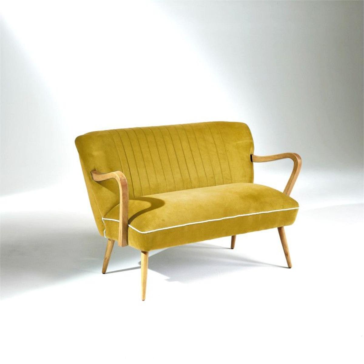 Banquette Vintage SIXTY, jaune moutarde