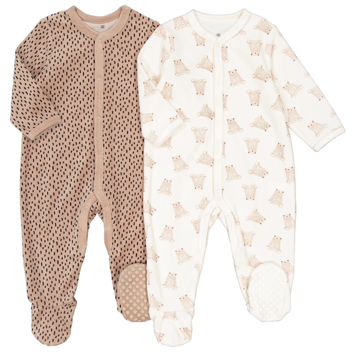 Пижамы La Redoute Для новорожденных мес - года рожденные раньше срока - 45 см каштановый комплект из боди для la redoute новорожденных мес года рожденные раньше срока 45 см разноцветный