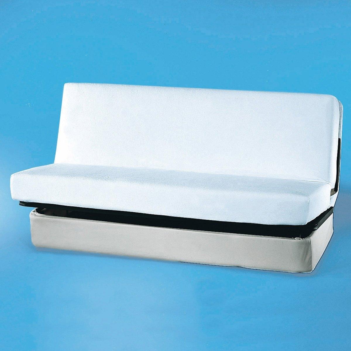 Чехол защитный для дивана-книжкиКачество VALEUR S?RE. Ультрамягкий и удобный чехол для дивана-книжки. Дышит, выводит выделяемую телом во время сна влаги, не промокает, защищает от бактерий. Махровая ткань стретч, 100% хлопка, с полиуретановой пропиткой. Длина 190 см. 2 ширины на выбор. Клапан 27 см. 100% биоразлагаемый и безопасный для окружающей среды материал. Стирка при 60°.<br><br>Цвет: белый<br>Размер: 140 x 190 см