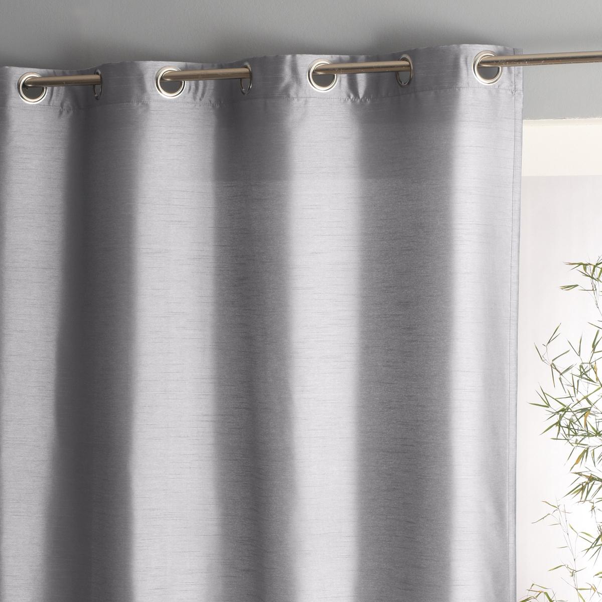 Штора La Redoute С эффектом шелковой ткани NYERI 180 x 140 см серый ремень с эффектом ткани с заклепками