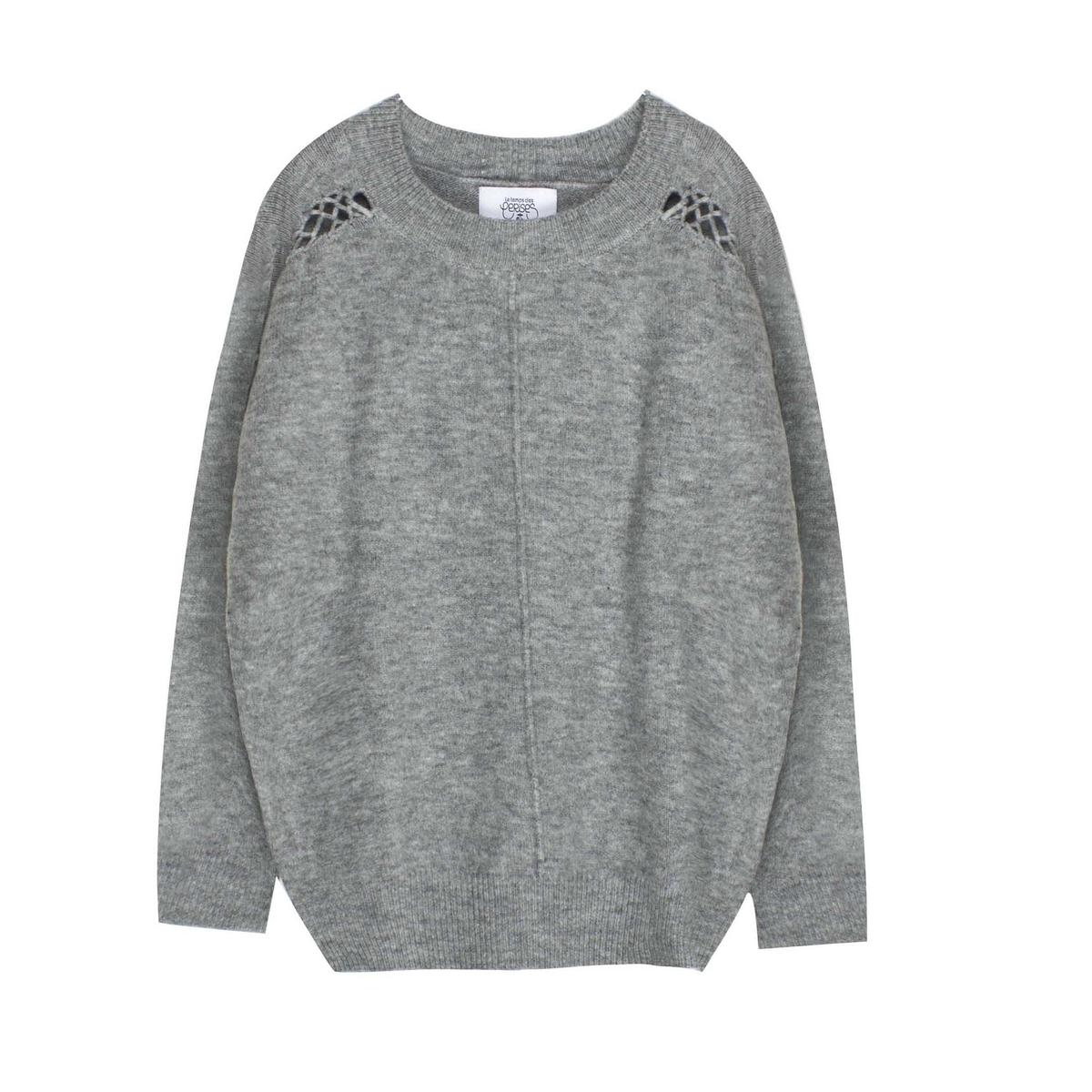 Пуловер из тонкого трикотажа с плетёными деталями пуловер из мохера