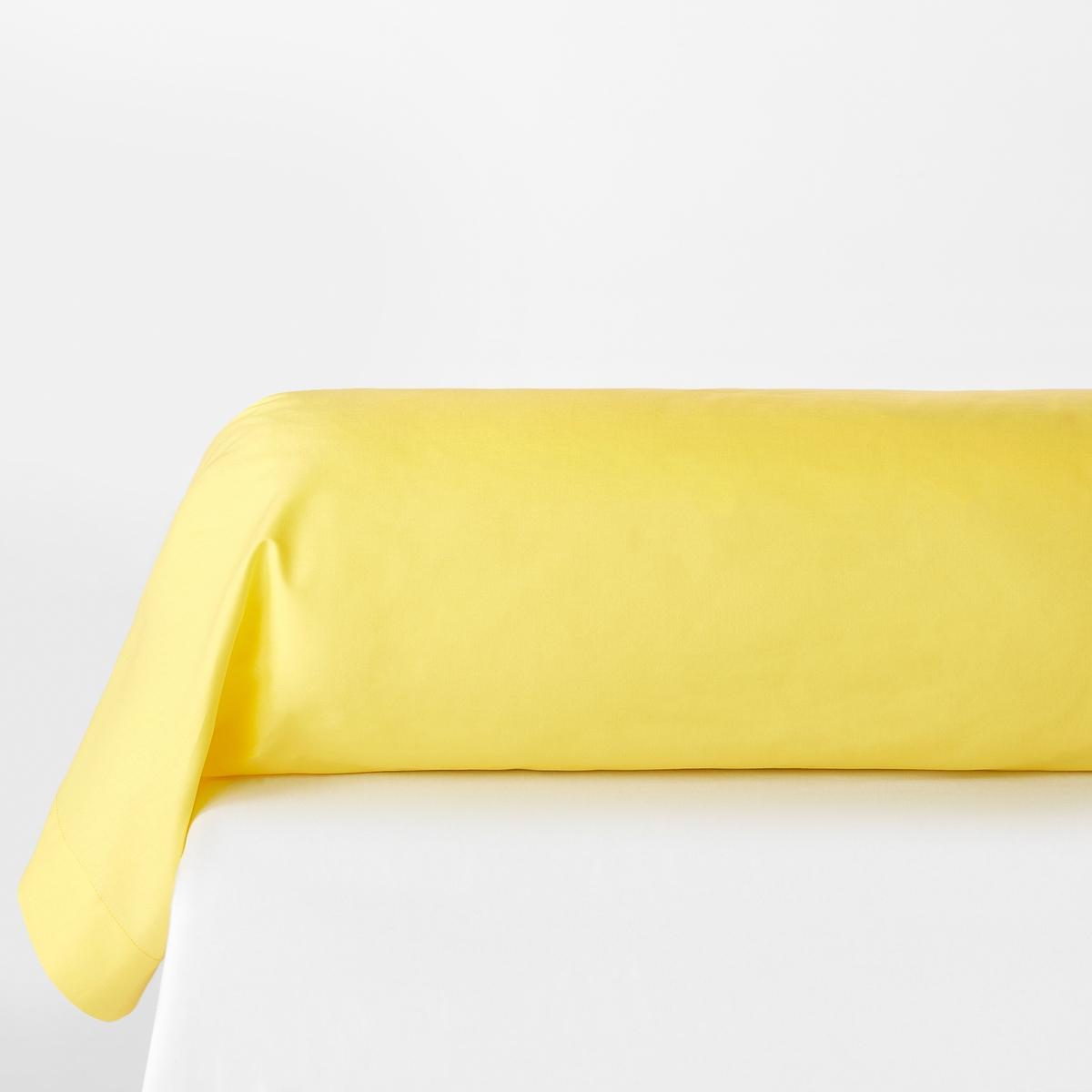 Наволочка на подушку-валик из хлопкаНаволочка на подушку-валик из 100% хлопка (57 нитей/см?) : чем больше нитей/см?, тем выше качество материала. Длительный комфорт и отличная прочность. Отличная стойкость цветов к стиркам     (60 °C).Преимущества   : великолепная гамма современных оттенков для сочетания по желанию с простынями и пододеяльниками SCENARIO и рисунками коллекции. Знак Oeko-Tex® гарантирует, что товары протестированы и сертифицированы, не содержат вредных веществ, которые могли бы нанести вред здоровью.                                                                                                                  ?Наволочка на подушку-валик :85 x 185 см                                                                                                                                     Откройте для себя всю коллекцию постельного белья, нажав SC?NARIO UNI<br><br>Цвет: желтый лимонный