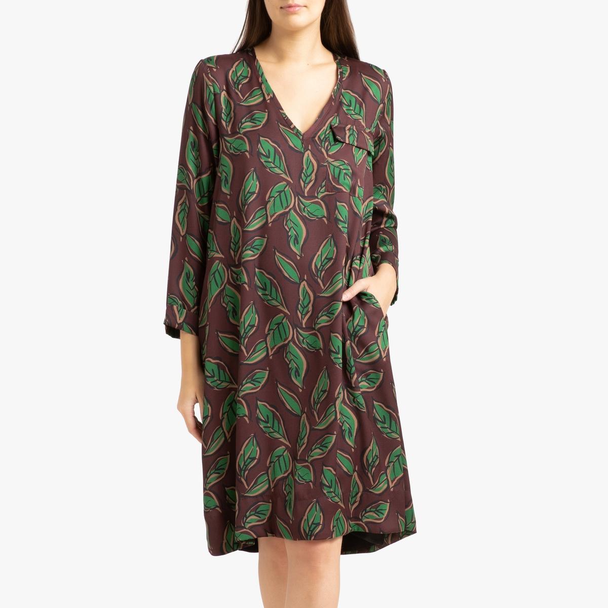 Платье La Redoute С рисунком и длинными рукавами SELDA S синий selda bagcan denizli