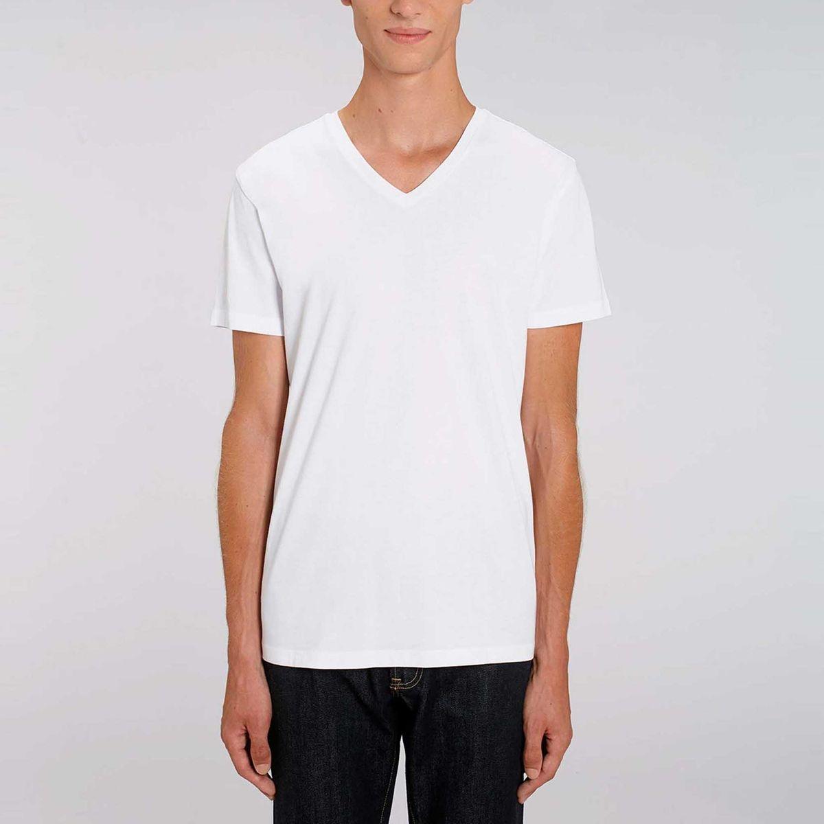 Tee shirt manches courtes col V coton bio  Pilanta