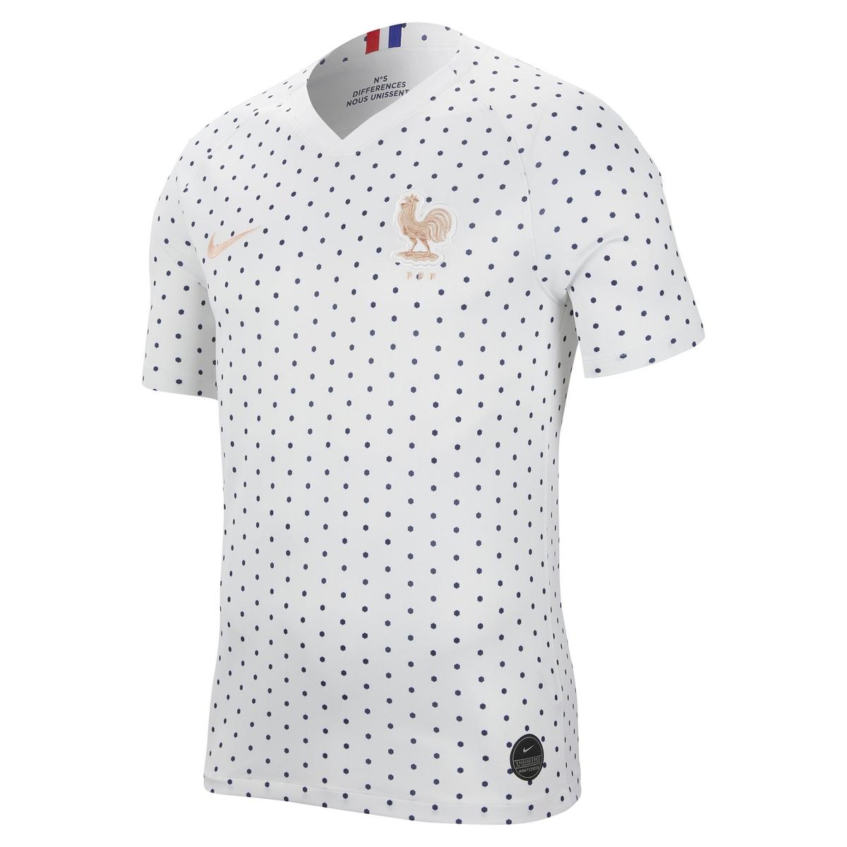Camiseta con cuello de pico, manga corta, estampado de lunares