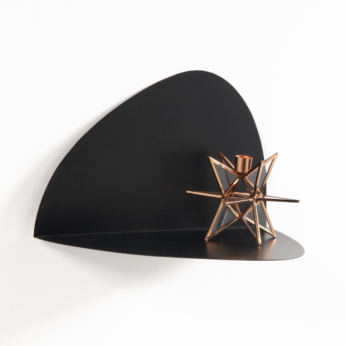 Полка La Redoute Настенная из металла MATILINE единый размер черный тумба la redoute металлическая полки janik единый размер белый