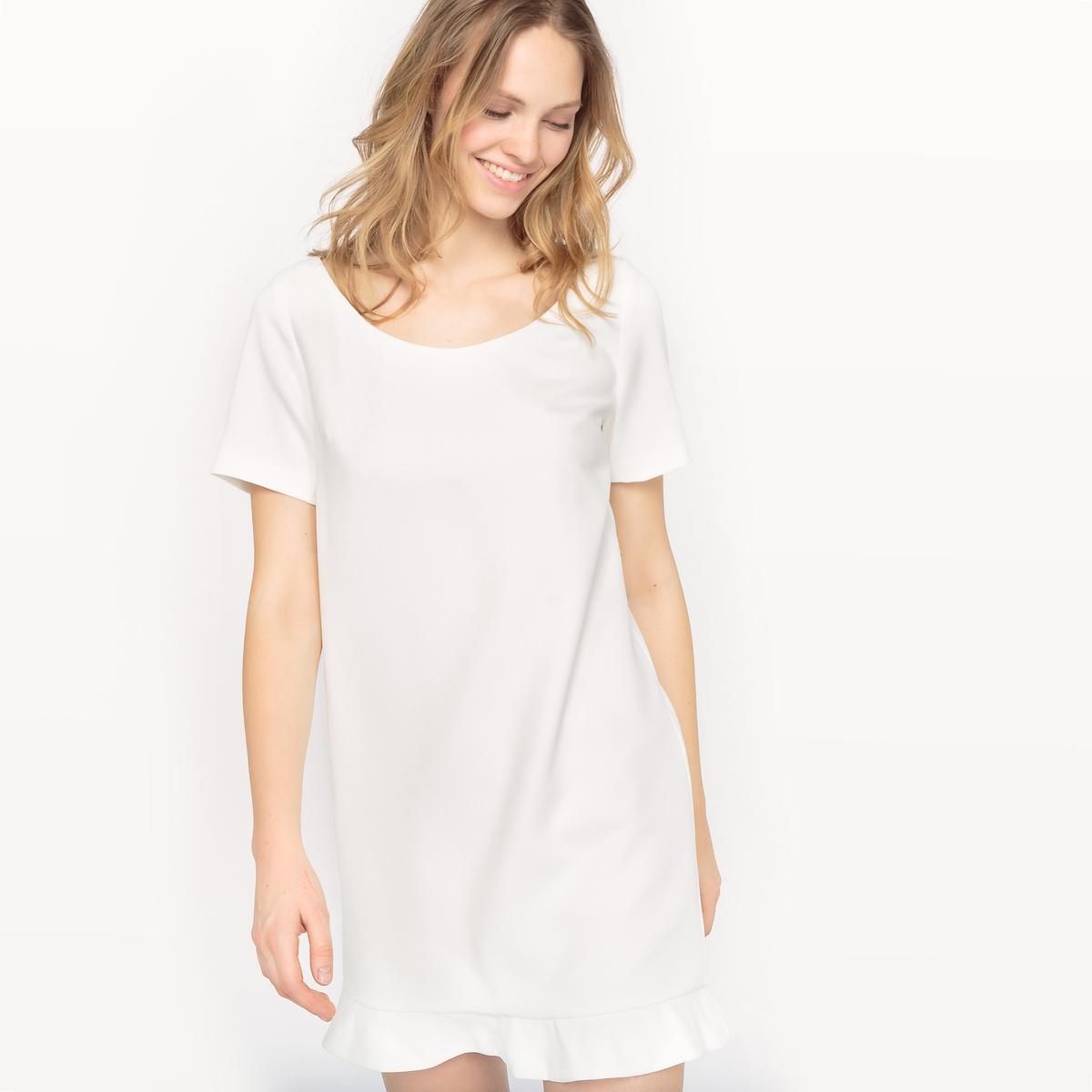 цены  Платье с короткими рукавами и глубоким вырезом сзади