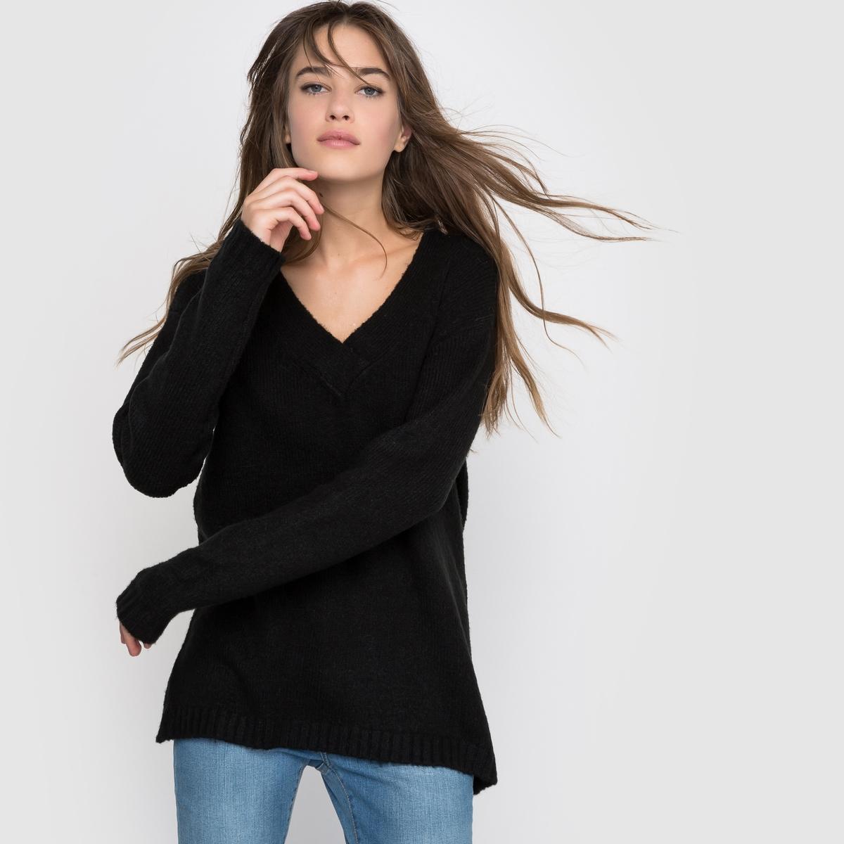 Пуловер широкий с длинным рукавом