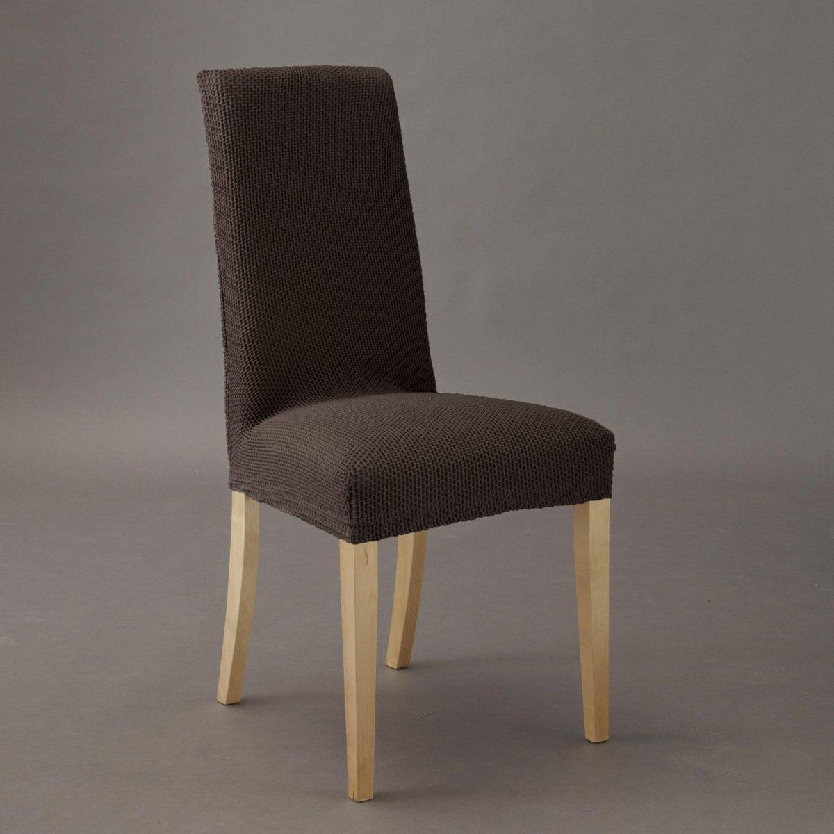 Чехол для стула АхмисХарактеристики : -гофрированная ткань, 55% хлопка, 40% полиэстера, 5% эластана  стирка при 30° .  Эластичный низ, идеально обтягивает стул  !Размеры : Спинка :Высота  : 54 см максимум 68 см Ширина  : 34 см максимум 53 см Сиденье :Высота  : 10 см Ширина  : 29 см максимум 54 см Глубина : 26 см максимум 43 см Чехол для дивана и чехол для кресла из коллекции Вы можете найти на laredoute . ru .<br><br>Цвет: антрацит,бежевый,красный,серо-коричневый каштан,серый,экрю<br>Размер: единый размер.единый размер.единый размер