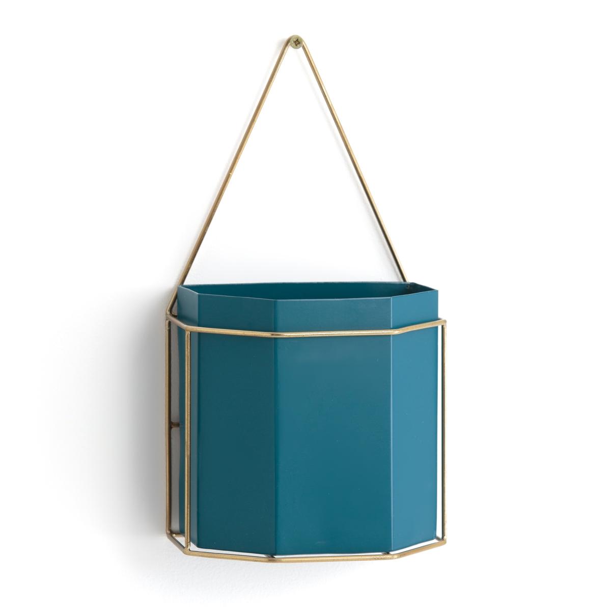Кашпо La Redoute На стену из металла UYOVA единый размер синий стол la redoute журнальный из агата и металла anaximne единый размер синий