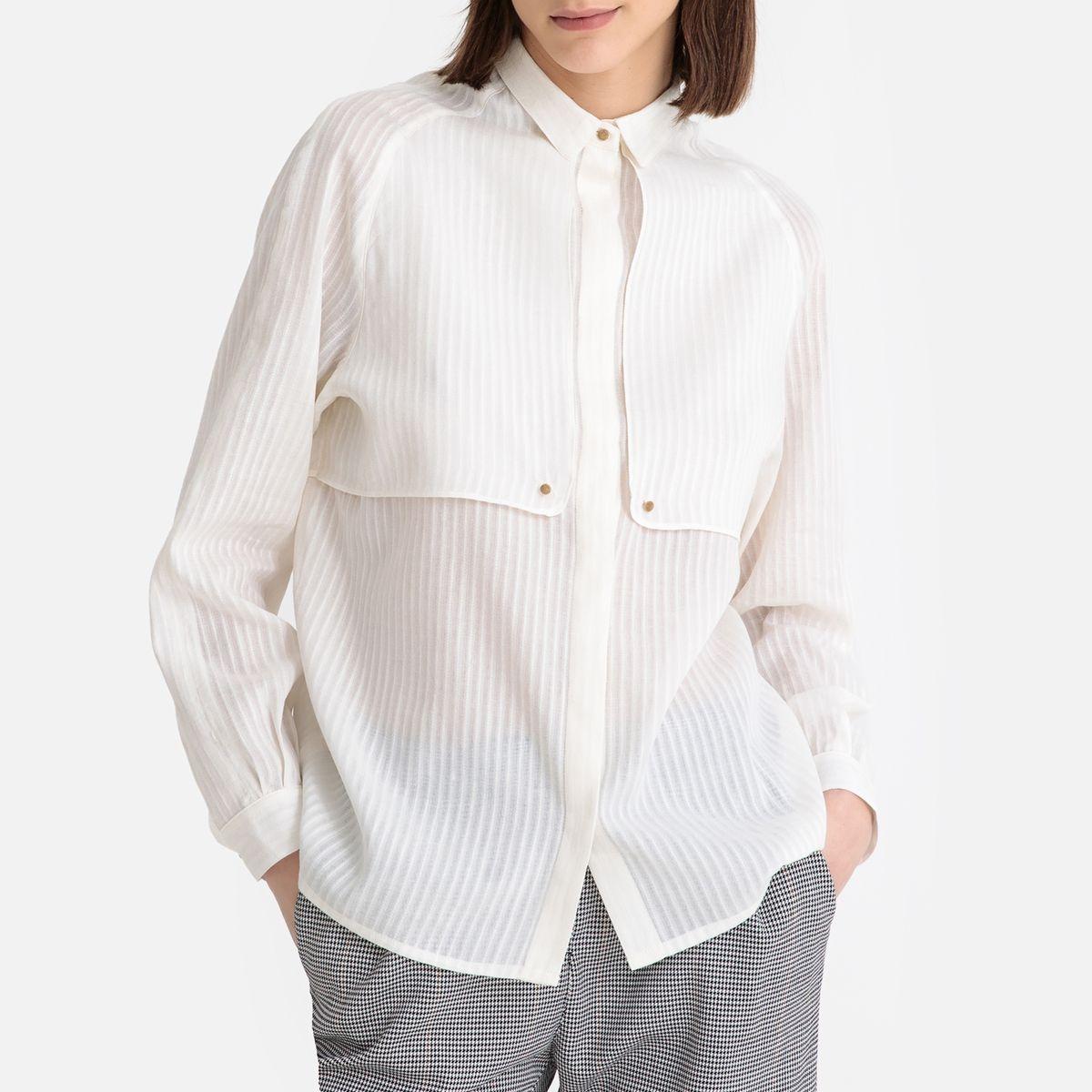 Chemise manches longues à bavolets ELOUI