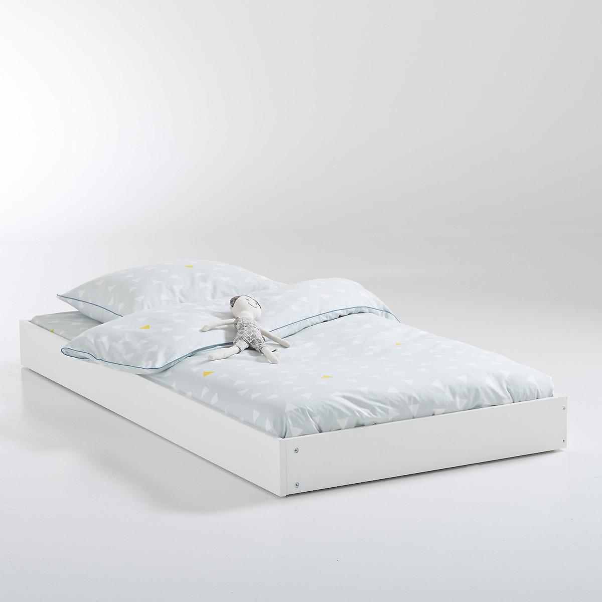 Ящик-кровать LaRedoute 1-спальный винтажный в стиле ретро Adil единый размер белый