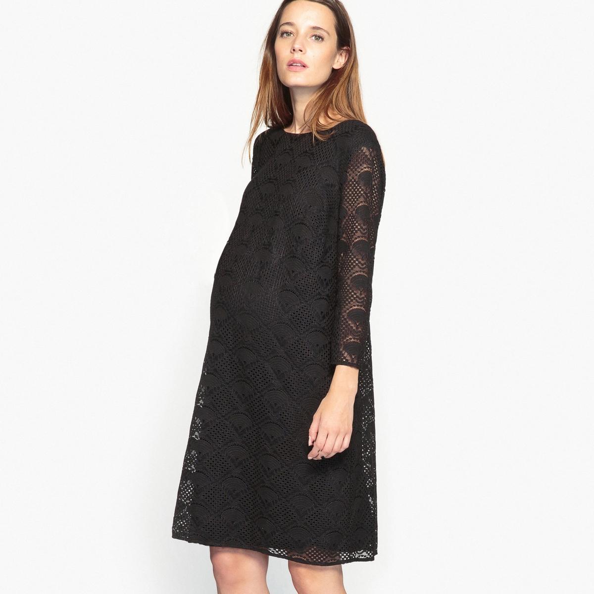 Платье кружевное для периода беременности