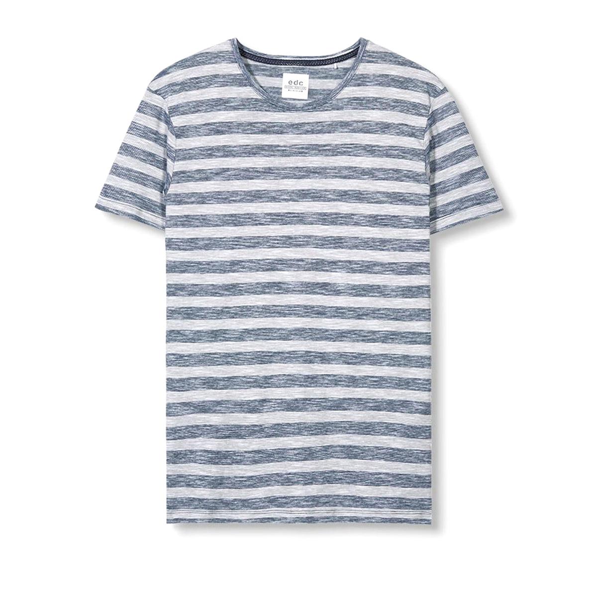 Футболка с меланжевым эффектом в полоску футболка мужская esprit 025ee2k027c 15 259