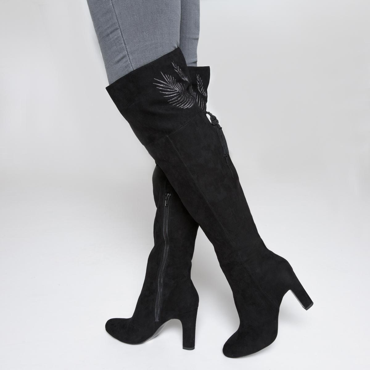zapatillas Botas de piel con motivo de hoja