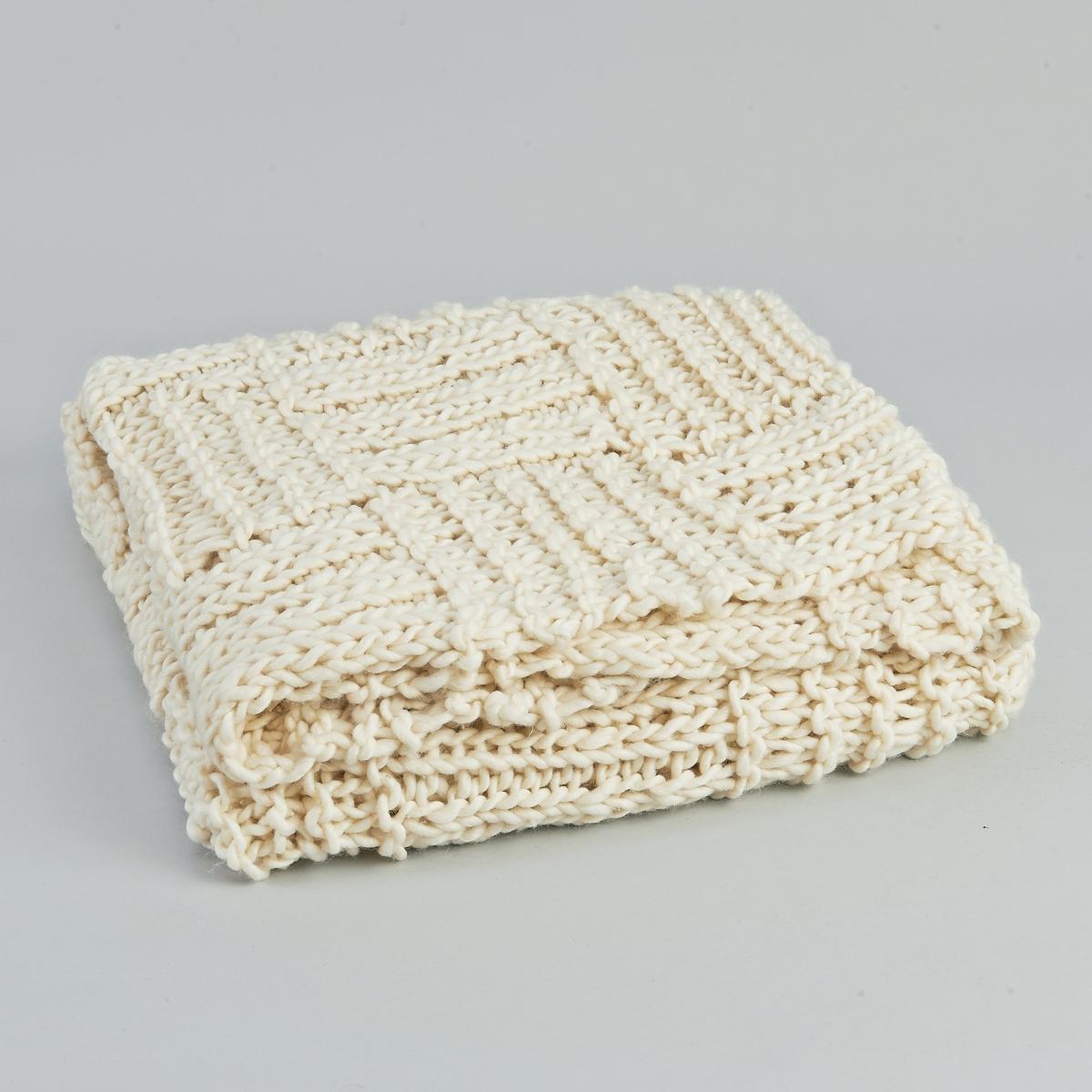 Плед 60% шерсти GranithПлед Granith. Позволит Вам стильно согреться зимой… Крупная вязка, ручная работа.  60% шерсти, 20% акрила, 20% полиэстера. Размер : - 150 x 150 см.<br><br>Цвет: экрю