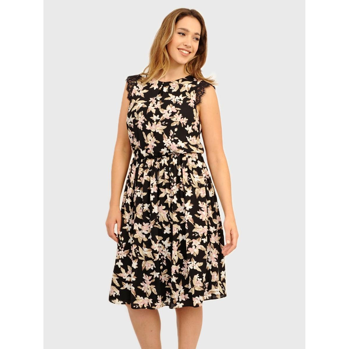 ПлатьеПлатье без рукавов KOKO BY KOKO. Красивое кружево на плечах и сзади. Длина ок.104 см. 100% полиэстера.<br><br>Цвет: набивной рисунок<br>Размер: 48 (FR) - 54 (RUS)